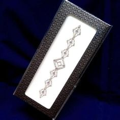 Upper-Arm-Cuff-Brow-Band-Clear-Gems-on-Silver-Adhesive-Body-Jewellery