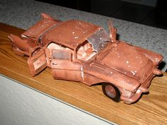 Custom 'Weathered' 57 Cadillac 1:18 die cast