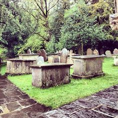 Cemetery at St. Andrew's Church in Castle Combe, England. I love old cemeteries.....