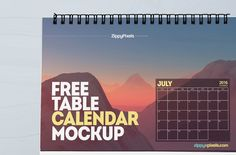 Free high resolution table calendar psd