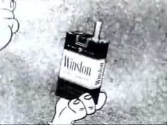 Vintage Commercial featuring The Flintstones selling Winston cigarettes. Hard to imagine this airing on TV!
