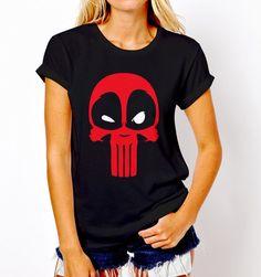 New Popular Deadpool Punisher Marvel Parody T-Shirt Tee Women S-XL #Gildan #GraphicTee #Everyday