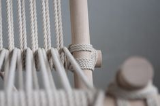 Self build chair from wood and rope — Daantje de Klein - Home Eindhoven, Clothes Hanger, Graduation, Self, Crafty, Chair, Building, Wood, Furniture