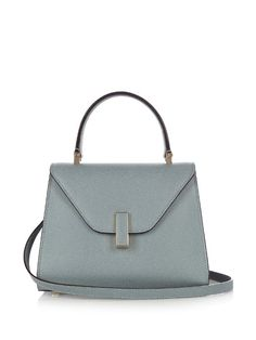 VALEXTRA Iside Mini Grained-Leather Cross-Body Bag. #valextra #bags #leather #accessories #metallic #shoulder bags #wallet #hand bags #