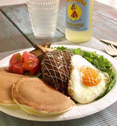 ロコモコ風パンケーキ