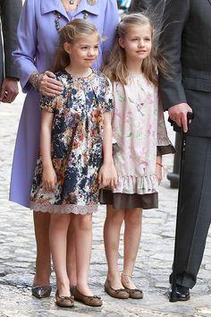 Infanta Leonor and Princess Sofia.