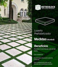#losetas prefabricadas en concreto, idea 💡 especial para diseños arquitectónicos ecológicos, fácil instalación.