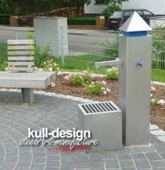 Gartenbrunnen aus Edelstahl für Parkanlage