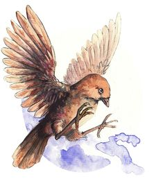 A cute little bird. Adorable and lovely. A nice watercolor illustration of bird. Canvas Wall Art, Canvas Prints, Art Prints, Cute Birds, Long Hoodie, Watercolor Illustration, Glossier Stickers, Decorative Throw Pillows, Art Boards