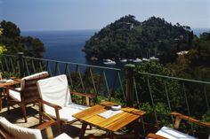 Terraza del Hotel Splendido en Liguria. Portofino, Genova