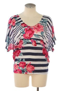 Stripe Rose Shirt