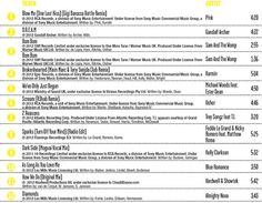 BODYJAM™ 64 MUSIC TRACKLIST