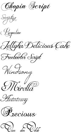 Calligraphy fonts from dafont.com