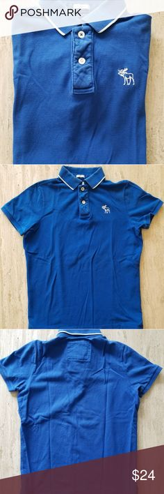 New Abercrombie   Fitch Muscle Blue Polo New Abercrombie   Fitch Muscle  Blue Polo Tag removed 2d052f5d479af