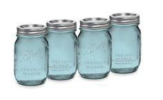 6 pcs Aqua Blue Ball Mason Jars for Wedding by ILoveYoYoWedding, $24.00