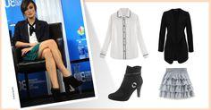 Comment porter la jupe volantée ? Inspirons-nous du look de la très jolie Keira Knightley qui l'associe à une chemise blanche et une veste noire. Il suffisait d'y penser ! ;-)