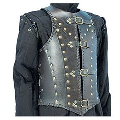 Armor Soldiers Leather Body Armour Black One Size