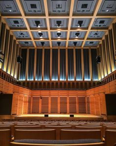 """""""Hall One, Kings Place designed by Dixon Jones Architects and Arup Acoustics in London. With near perfect sound, this room is actually floating! All the…"""""""