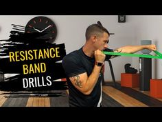 3 Resistance Band Exercises   Boxing Training - YouTube Boxing Coach, Boxing Club, Box Uk, Resistance Band Exercises, Boxing Training, Martial Arts, Drill, Coaching, Strength