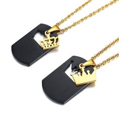 513cc0b8f3a30 67 Best Couple Necklaces images in 2017   Bracelets, Ear rings ...