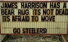 Harrison is the man!  #herewegosteelers                                                                                                                                                                                 More