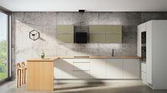 Moderni puinen keittiö, jossa kivat vihreänsävyiset pinnat kaapistossa! 🍃 #ainakeittiöt #aina #keittiö #kitchen #vaaleatkeittiöt #inspiration #puu #suomalainen