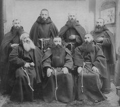 Vintage photo of monks