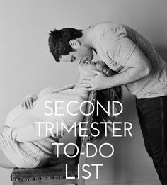 Second trimester to-do list from Simple Baby. Second Trimester Getting Ready For Baby, Preparing For Baby, Baby On The Way, Our Baby, Baby Baby, 2nd Trimester, Second Trimester Workouts, Mommy Workout, Before Baby