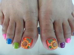 Nail art from the NAILS Magazine Nail Art Gallery, mixed media, summer, Spring Nail Trends, Spring Nails, Autumn Nails, Summer Nails, Love Nails, My Nails, Sunflower Nail Art, Toe Nail Designs, Beautiful Nail Designs
