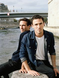 Twin French fashion designer/actors, Alex and Victor Carril..