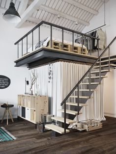 Modern Apartment Decor: Fascinating Scandinavian style loft apartment in P.