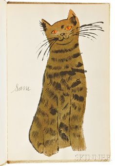 Andy Warhol (American, 1928-1987)      25 Cats Name[d] Sam and One Blue Pussy