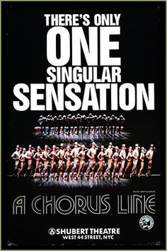 A Chorus Line--fantastic music, great costumes . . .but the story is the draw, truly!