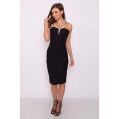 Vestido Negro Midi dress ( Rare London) - 1001noches