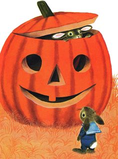 (via Vintage Kids' Books My Kid Loves, illustration by Richard Scarry c. one of my favs Retro Halloween, Halloween Pictures, Holidays Halloween, Spooky Halloween, Halloween Pumpkins, Halloween Crafts, Beistle Halloween, Halloween Labels, Halloween Books
