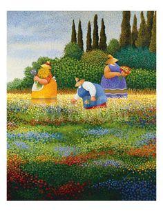 Spring Gathering Art Print by Lowell Herrero at Art.com