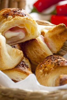 Ham and Cheese Turnovers #Recipe - only 4 ingredients!