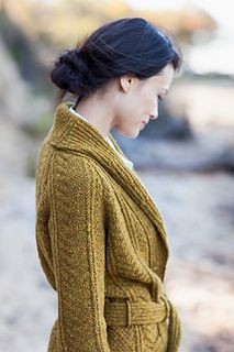 Beautiful shawl neckline ~ Channel Cardigan by Jared Flood