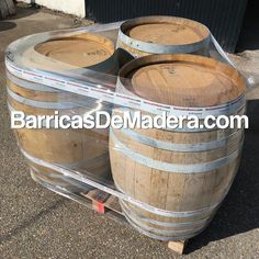 These 3 barrels will be soon in a famous Spanish TV program about #DIY. | Estas tres barricas aparecerán pronto en un famoso programa de TV sobre bricolaje. ¿Te animas tú también a hacer algo con ellas? #usedbarrels #oakbarrels #barriques #botti #redwine #wijnvaten #vaten #vintønde #woodenbarrel #tonneau #futdechene #winebarrel #oakbarrel #tonneaux #casks #barricas #toneles #barriles #cubas #regenton #kopen #kuipen #wijnkuip #wijnvat #vatten #weinfass #fass #barrels