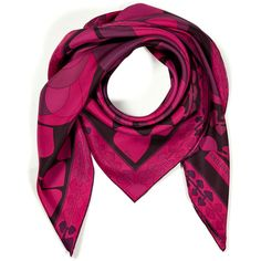 EMILIO PUCCI Boysenberry Multi Printed Silk Scarf ($476) ❤ liked on Polyvore