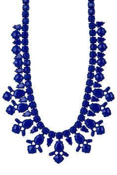 Deco Cobalt Blue Statement Necklace