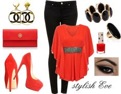 """""""Red & Black set"""" by snow-white191 ❤ liked on Polyvore"""