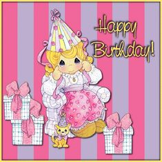 Barbara_Wyckoff uploaded this image to 'Birthdays'. See the album on Photobucket. Birthday Wishes For Kids, Happy Birthday Celebration, Birthday Pins, Happy Birthday Greetings, 39th Birthday, Everything Pink, Precious Moments, Animated Gif, Anniversary