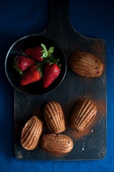 Madeleines with Strawberry and Chocolate#Repin By:Pinterest++ for iPad#