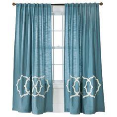 Threshold™ Fretwork Border Curtain Panel