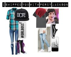 """""""I shipped you with Percy Jackson"""" by moon-and-back-babe123 ❤ liked on Polyvore featuring WithChic, Vero Moda, 21 Men, Billabong, Vans, Coal and Casetify"""