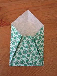 tutorial origami envelope