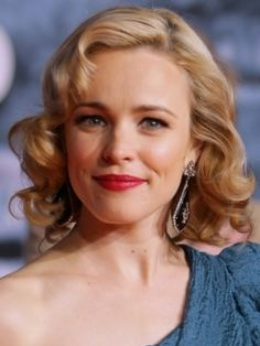 curly 50s hair. Gah Rachel McAdams...save some gorgeous for the rest of us!