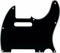 MIJ Pickguard For Fender Telecaster '62 Black 3-PLY by MIJ Guitars. $24.99. The shape model taken from original Fender Japan Telecaster. Counterbored for screw holes. Brand new items with vinyl protective pull of film. Pickups and electronics are not included. Pot holes are fit to both mm scale and inch scale.  Specification: pickup capacity: 66mm x 15mm