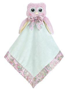 "Amazon.com: Bearington Baby Little Hoots Owl Snuggler, Plush Security Blanket, Lovey 15"": Baby"